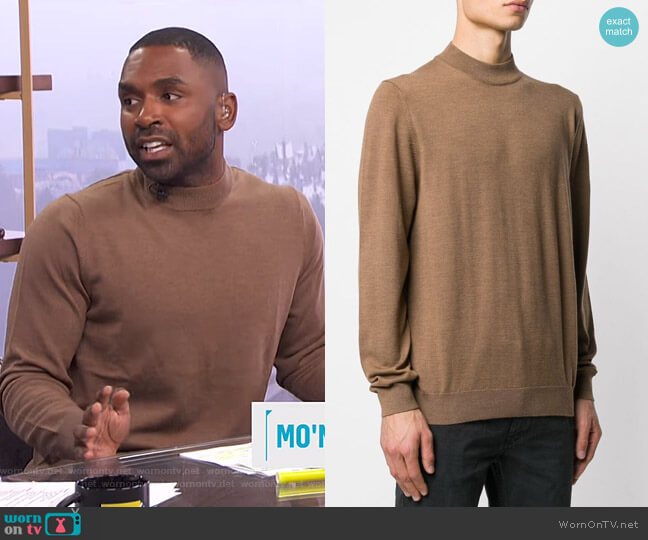 Martin Knit Jumper by NN07 worn by Justin Sylvester  on E! News