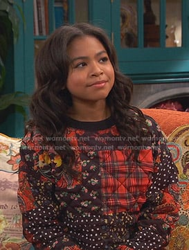 Nia's patchwork sweatshirt on Ravens Home
