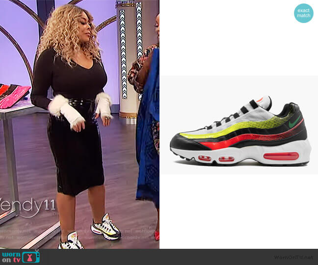 Air Max 95 by  Nike in Solar Red worn by Wendy Williams  on The Wendy Williams Show