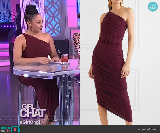 Diana Dress by Norma Kamali worn by Tamera Mowry  on The Real