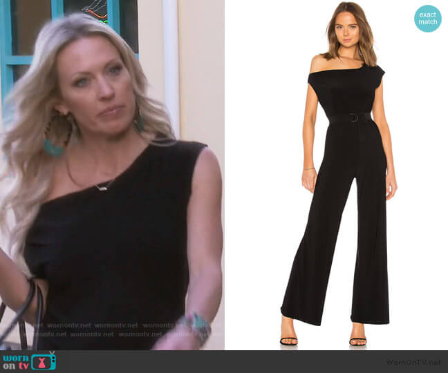 Drop Shoulder Jumpsuit by Norma Kamali worn by Braunwyn Windham-Burke  on The Real Housewives of Orange County