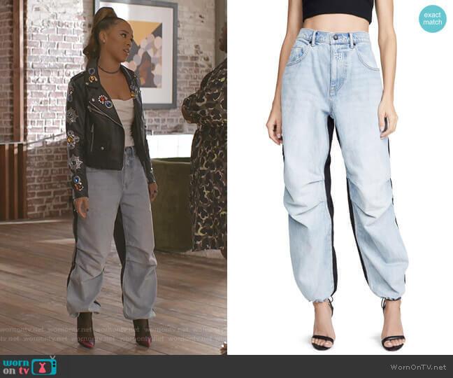 Pack Mix Pants by Denim x Alexander Wang worn by Tiana Brown (Serayah McNeill) on Empire
