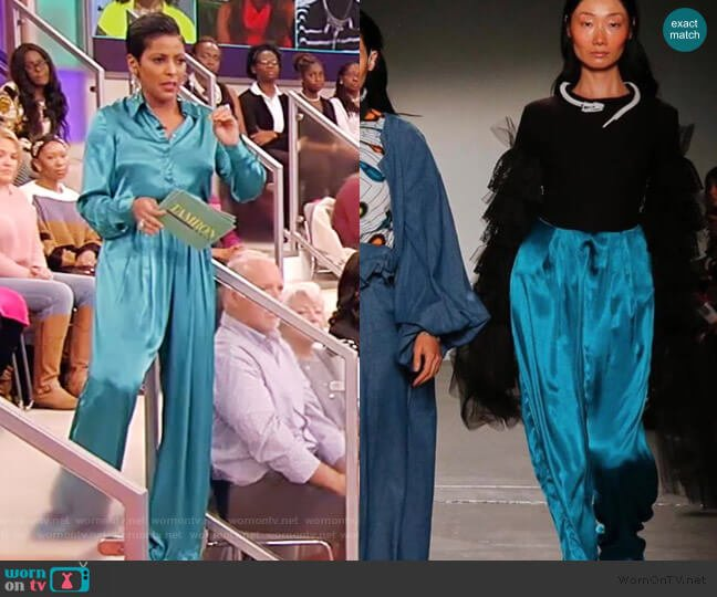Satin Pants by Kidde Itto worn by Tamron Hall  on Tamron Hall Show