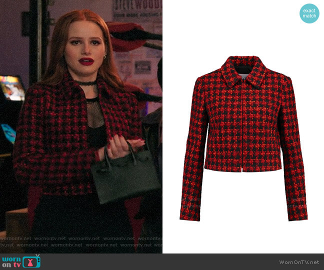 RED Valentino Tweed Jacket worn by Cheryl Blossom (Madelaine Petsch) on Riverdale