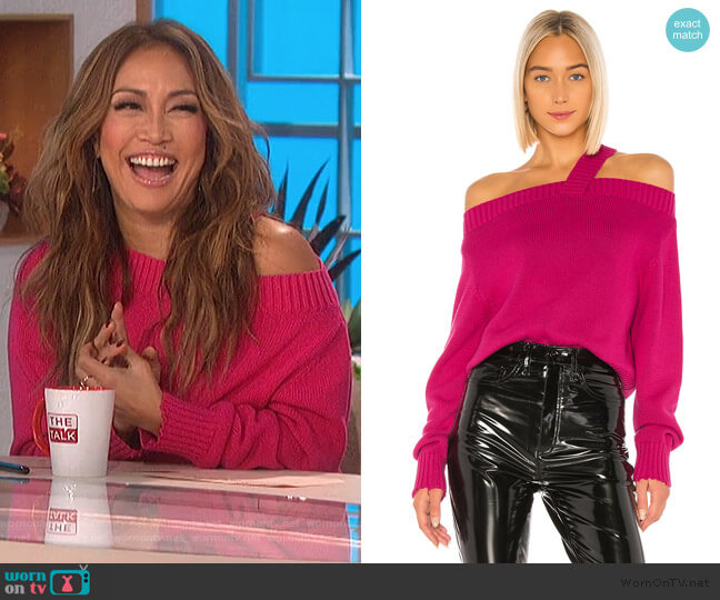 Beckett Sweater by RTA worn by Carrie Inaba  on The Talk