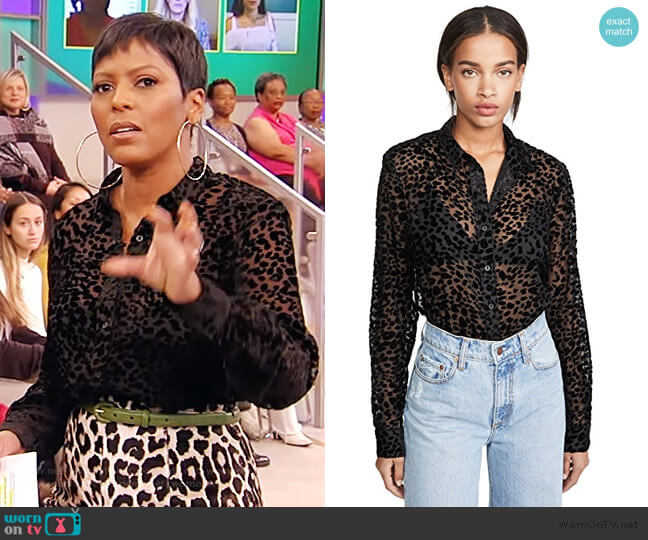 Blythe Top by RtA worn by Tamron Hall  on Tamron Hall Show
