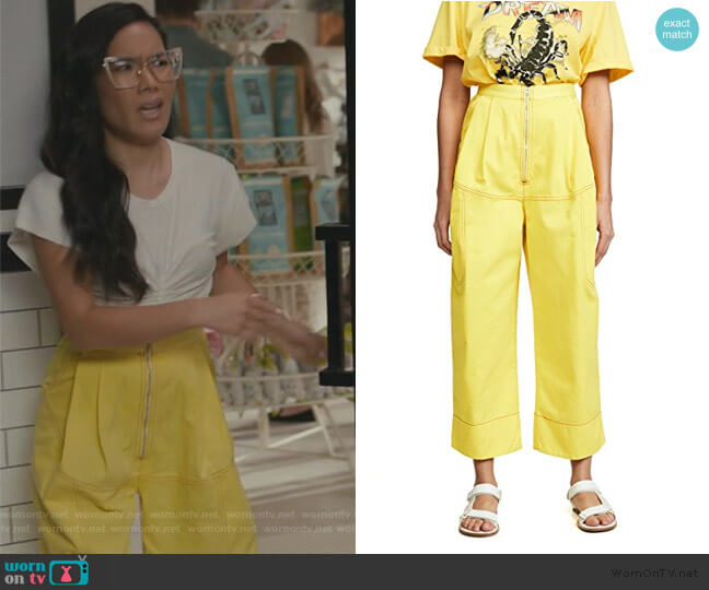 Bandini Pants by Rachel Comey worn by Doris (Ali Wong) on American Housewife