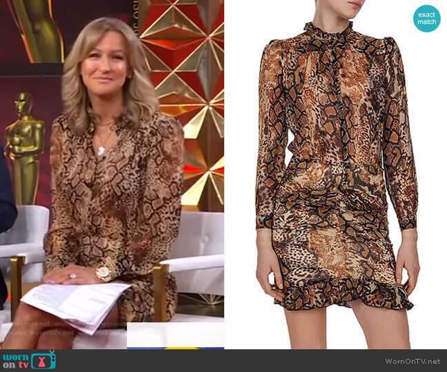 Rackel Dress by Ba&Sh worn by Lara Spencer  on Good Morning America
