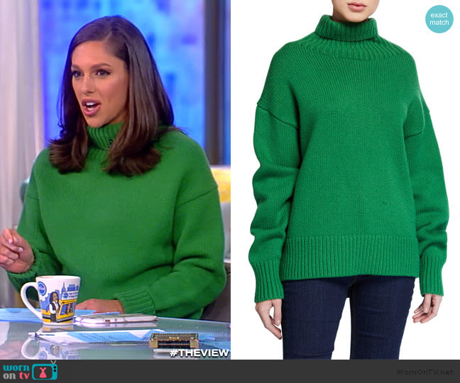 Lunet Lambs Wool Turtleneck Sweater by Rag and Bone worn by Abby Huntsman  on The View