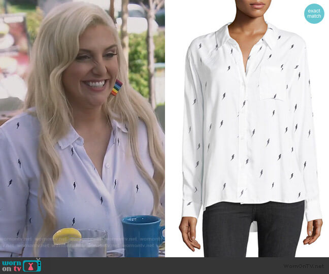 Rocsi Button-Front Single-Pocket Shirt by Rails worn by Gina Kirschenheiter  on The Real Housewives of Orange County