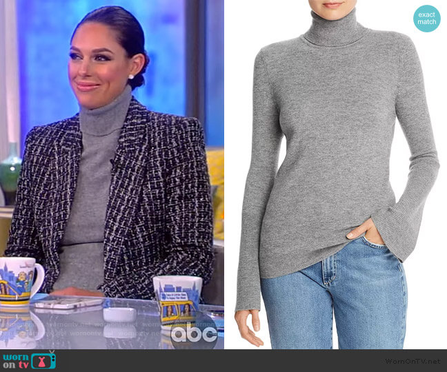 Kathy Wool-Blend Snap-Cuff Sweater by Ramy Brook worn by Abby Huntsman  on The View