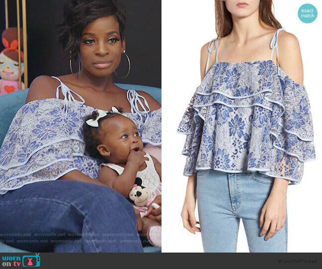 Dena Top by Rebecca Minkoff worn by Shamea on The Real Housewives of Atlanta