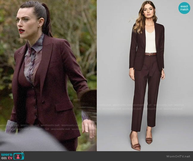 Reiss Berry Lissa Blazer & Trousers worn by Lena Luthor (Katie McGrath) on Supergirl