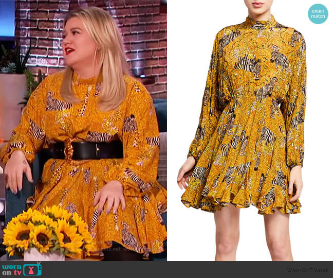 Caroline Serengeti Dress by Rhode worn by Kelly Clarkson  on The Kelly Clarkson Show