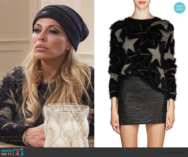 Star-Pattern Sweater by Saint Laurent worn by Dolores Catania  on The Real Housewives of New Jersey