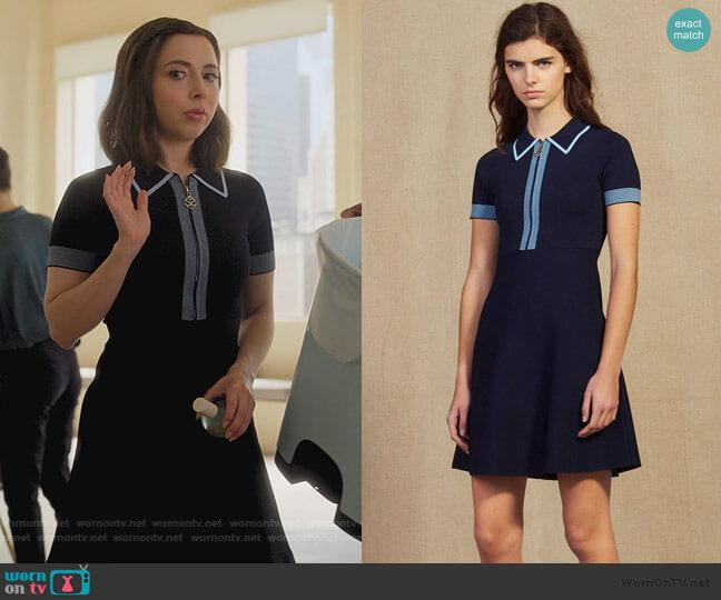Knit Polo Dress by Sandro worn by Izzy Levine (Esther Povitsky) on Dollface