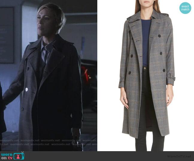 Long Plaid Coat by Sandro worn by Bonnie Winterbottom (Liza Weil) on HTGAWM
