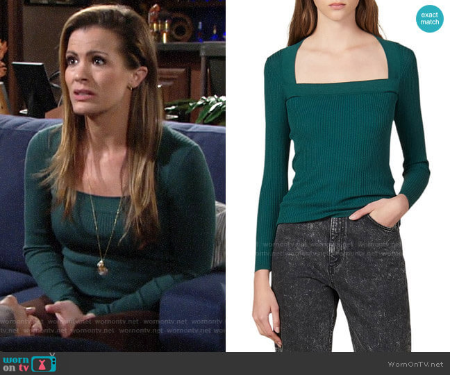 Sandro Molla Sweater worn by Chelsea Lawson (Melissa Claire Egan) on The Young & the Restless