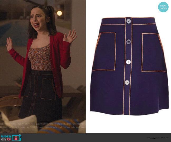 Heloise A-line Skirt by Sandro worn by Izzy Levine (Esther Povitsky) on Dollface