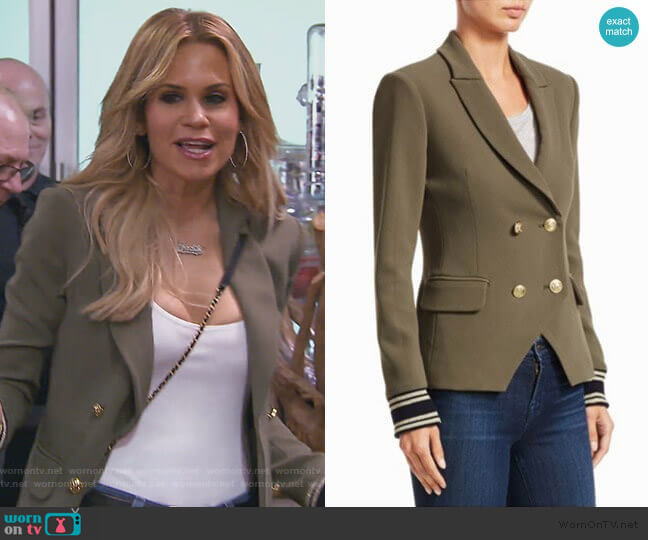 Double Breasted Blazer by Scripted worn by Jackie Goldschneider  on The Real Housewives of New Jersey