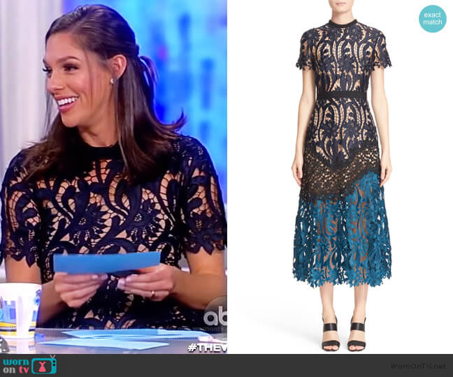 Prairie Midi Dress by Self Portrait worn by Abby Huntsman  on The View