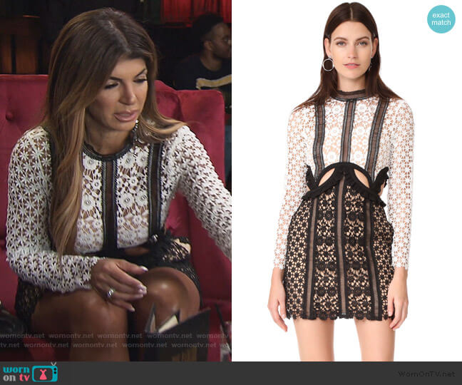 Payne Cutout Mini Dress by Self Portrait worn by Teresa Giudice  on The Real Housewives of New Jersey