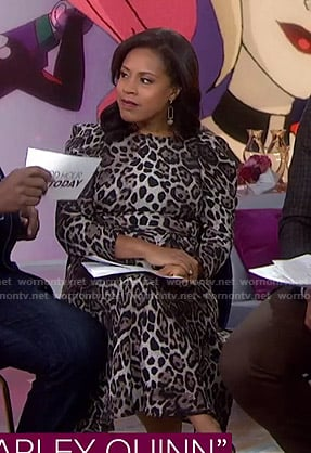 Sheinelle's leopard print midi dress on Today