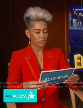 Sibley's red blazer on Access Hollywood