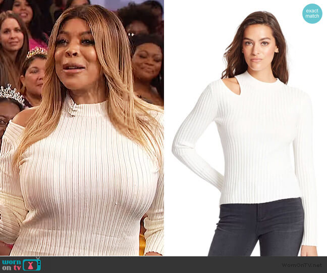 Robyn Cutout Sweater by Skinny Girl worn by Wendy Williams  on The Wendy Williams Show