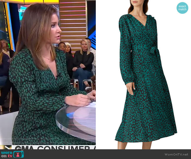 Animal Printed Wrap Dress by Slate & Willow worn by Rebecca Jarvis  on Good Morning America