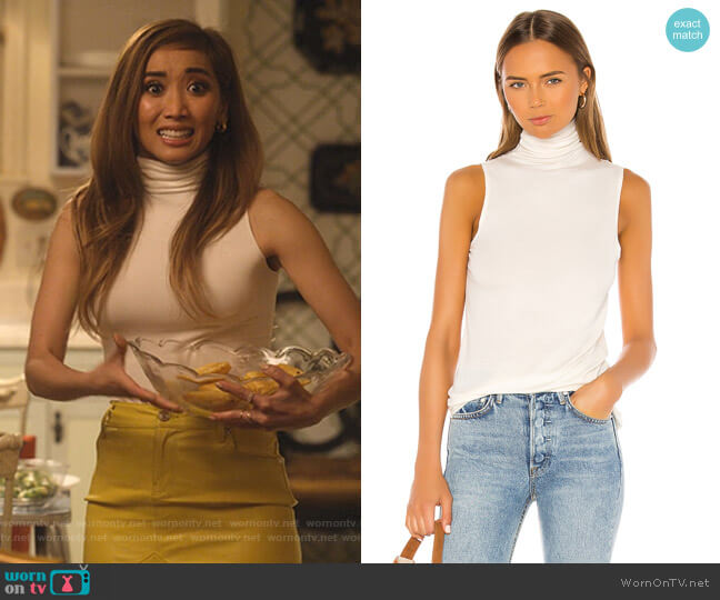 Sleeveless Chels Top by AG Adriano Goldschmied worn by Madison Maxwell (Brenda Song) on Dollface