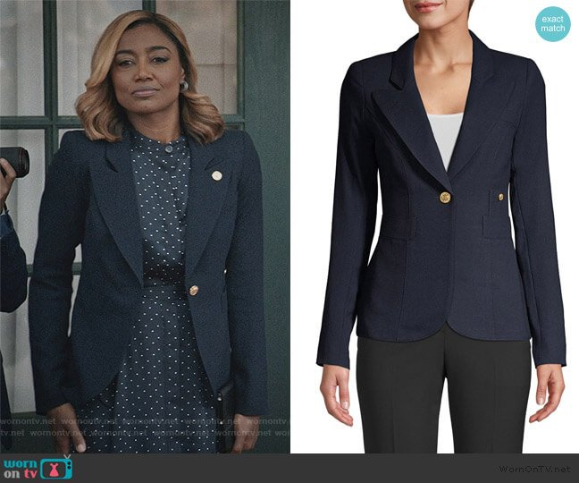 Classic Duchess Blazer by Smythe worn by Daisy Grant (Patina Miller) on Madam Secretary