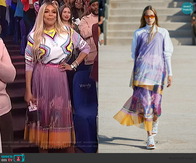 Spring 2020 Collection by Iceberg worn by Wendy Williams  on The Wendy Williams Show