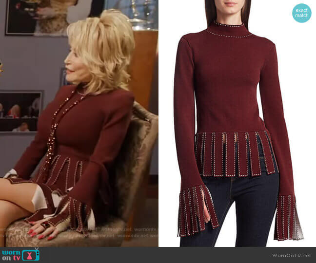 Mika Top by Staud worn by Dolly Parton on GMA