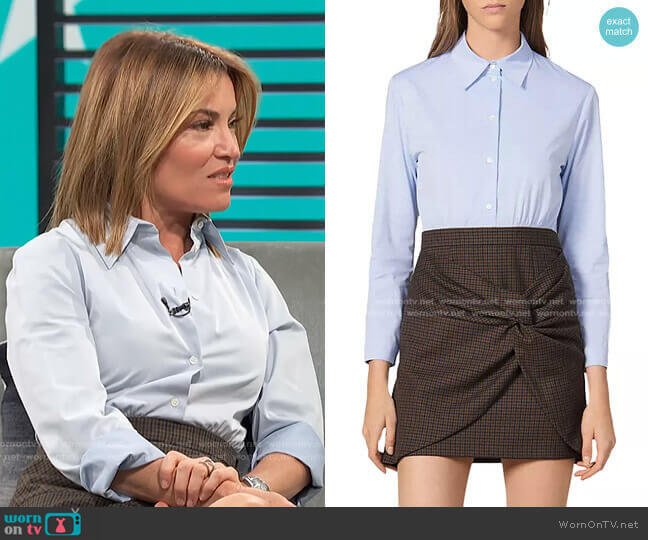 Suits Mixed-Media Dress by Sandro worn by Kit Hoover  on Access Hollywood