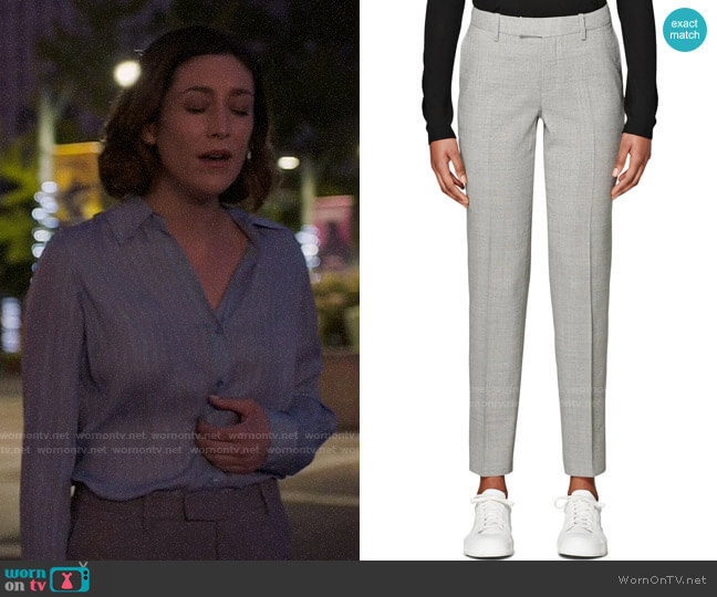 Suistudio Robin Classic Wool Trousers worn by Sydney Strait (Caitlin McGee) on Bluff City Law