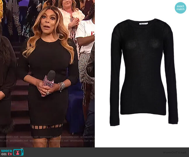 Black Sweater by T by Alexander Wang worn by Wendy Williams  on The Wendy Williams Show