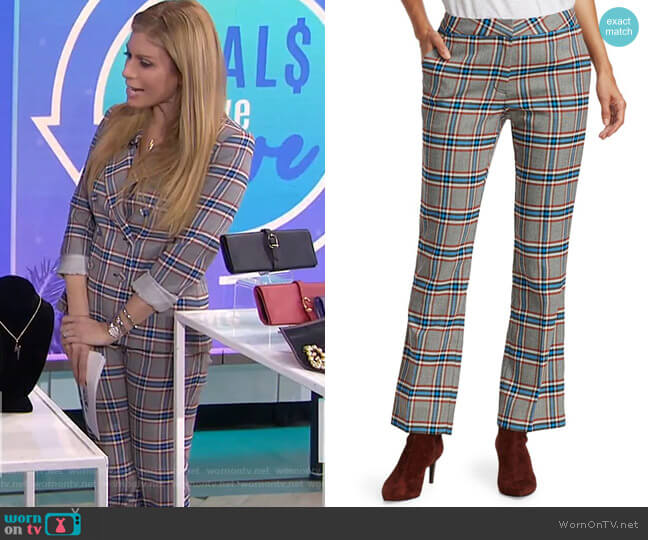Regina II Plaid Pants by Tanya Taylor worn by Jill Martin  on Today