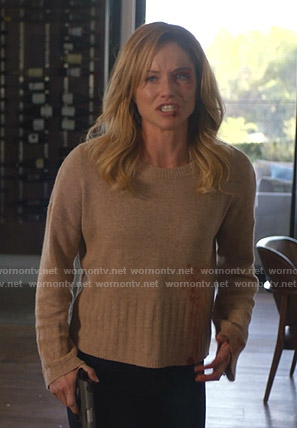 Tara's beige sweater on 9-1-1