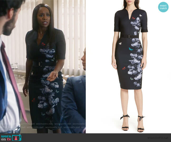 Narrnia Body-Con Dress by Ted Baker worn by Michaela Pratt (Aja Naomi King) on HTGAWM
