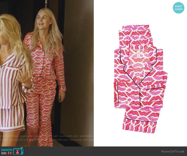 The Afterhours Satin Pajama Set by Victoria's Secret worn by Kameron Westcott  on The Real Housewives of Dallas