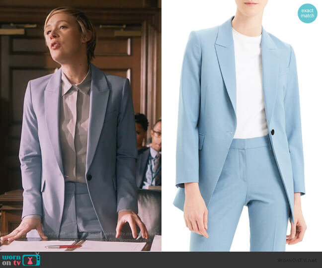 Etienette B Good Wool Suit Jacket and Pants by Theory worn by Bonnie Winterbottom (Liza Weil) on HTGAWM
