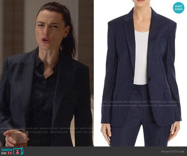 Theory Staple Wool Blazer worn by Lena Luthor (Katie McGrath) on Supergirl