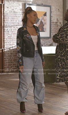 Tiana's coloblcok jeans on Empire