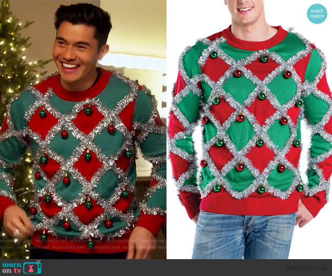 Tacky Tinsel Ugly Christmas Sweater by Tipsy Elves