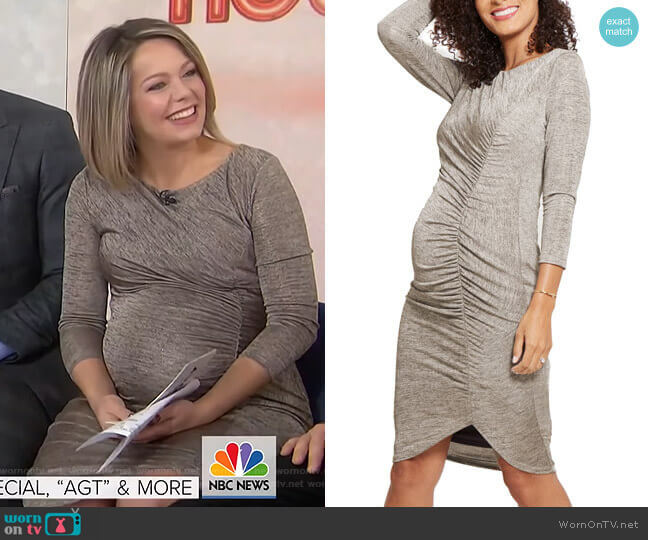 Tulip Hem Maternity Dress by Ingrid & Isabel worn by Dylan Dreyer  on Today