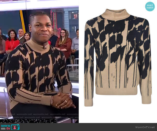 Turtleneck Sweater by Christian Dior worn by John Boyega on GMA