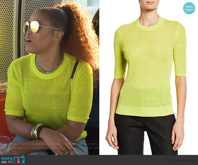 Dean Sweater by Veronica Beard worn by Eve  on The Talk