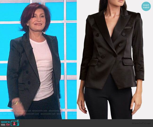 Dickey Double Breasted Blazer by Veronica Beard worn by Sharon Osbourne  on The Talk