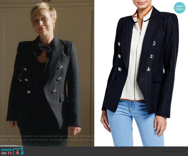 Miller Striped Dickey Jacket by Veronica Beard worn by Bonnie Winterbottom (Liza Weil) on HTGAWM
